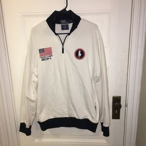 LIKE NEW Ralph Lauren 2014 Olympic Pullover Jacket